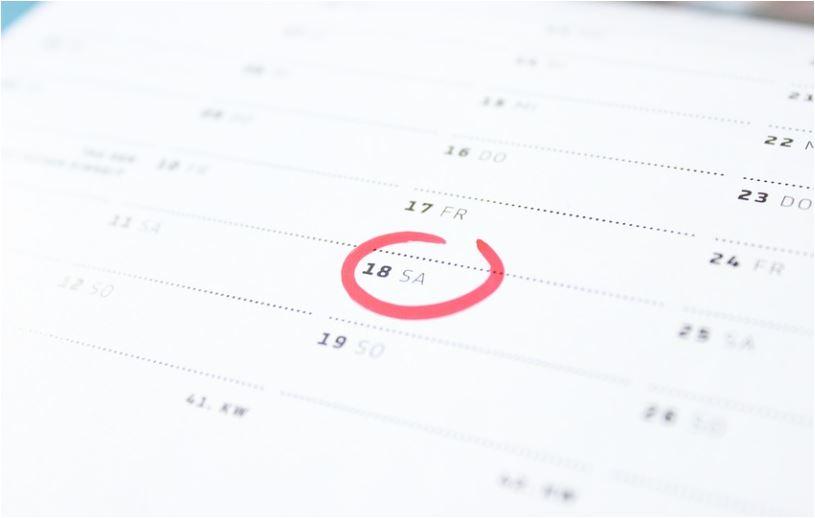 カレンダーに印